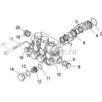 Комплект клапанного блока HD1217R, HD1417R ( d поршня 15 мм)