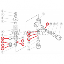 Ремкомплект регулятора давления VB80